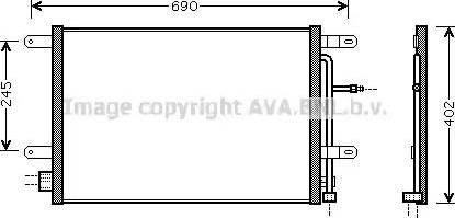 Ava Quality Cooling AI5238 - Конденсатор, кондиционер avtokuzovplus.com.ua