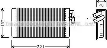 Ava Quality Cooling AI6052 - Теплообменник, отопление салона car-mod.com