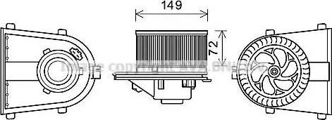 Ava Quality Cooling AI8378 - Электродвигатель, вентиляция салона car-mod.com