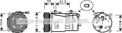 Ava Quality Cooling aiak003 - Компрессор, кондиционер autodnr.net