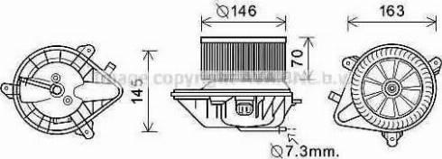 Ava Quality Cooling CN8292 - Электродвигатель, вентиляция салона car-mod.com