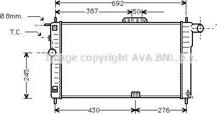 Ava Quality Cooling DWA2001 - Радиатор, охлаждение двигателя avtokuzovplus.com.ua