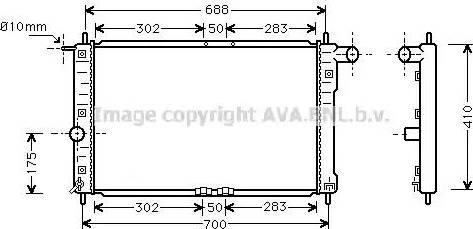 Ava Quality Cooling DWA2014 - Радиатор, охлаждение двигателя avtokuzovplus.com.ua