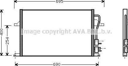 Ava Quality Cooling FD5259 - Конденсатор, кондиционер avtokuzovplus.com.ua