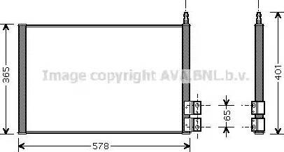 Ava Quality Cooling FDA5328 - Конденсатор, кондиционер avtokuzovplus.com.ua