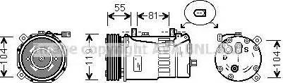 Ava Quality Cooling FDK321 - Компрессор, кондиционер avtokuzovplus.com.ua