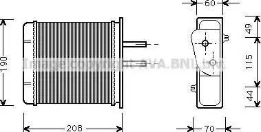 Ava Quality Cooling FT6150 - Теплообменник, отопление салона avtokuzovplus.com.ua