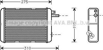 Ava Quality Cooling IV6018 - Теплообменник, отопление салона avtokuzovplus.com.ua