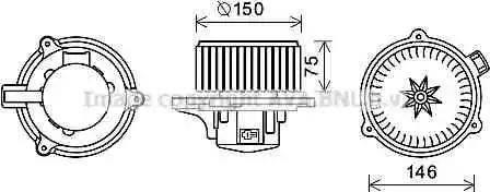 Ava Quality Cooling KA8241 - Электродвигатель, вентиляция салона car-mod.com