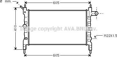 Ava Quality Cooling ola2023 - Радиатор, охлаждение двигателя autodnr.net