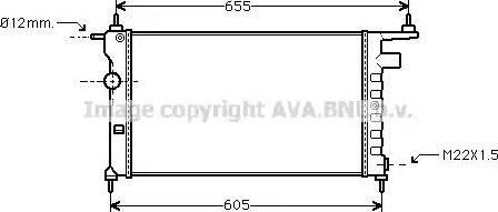 Ava Quality Cooling OLA2183 - Радиатор, охлаждение двигателя car-mod.com