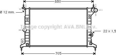 Ava Quality Cooling ola2242 - Радиатор, охлаждение двигателя autodnr.net