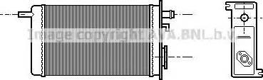 Ava Quality Cooling RT6096 - Теплообменник, отопление салона avtokuzovplus.com.ua