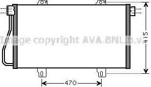 Ava Quality Cooling RTA5352 - Конденсатор, кондиционер avtokuzovplus.com.ua