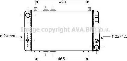 Ava Quality Cooling sa2002 - Радиатор, охлаждение двигателя autodnr.net
