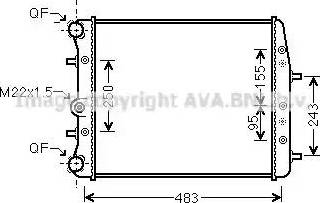 Ava Quality Cooling SA2005 - Радиатор, охлаждение двигателя autodnr.net