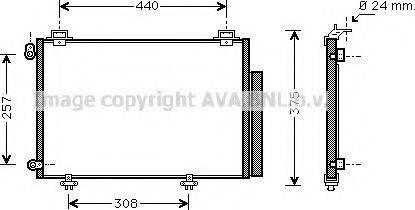 Ava Quality Cooling TO5267 - Конденсатор, кондиционер avtokuzovplus.com.ua