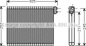 Ava Quality Cooling TOV484 - Испаритель, кондиционер car-mod.com