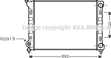 Ava Quality Cooling vn2071 - Радиатор, охлаждение двигателя autodnr.net