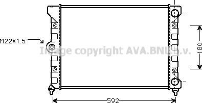 Ava Quality Cooling vn2099 - Радиатор, охлаждение двигателя autodnr.net