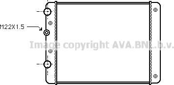 Ava Quality Cooling vn2129 - Радиатор, охлаждение двигателя autodnr.net