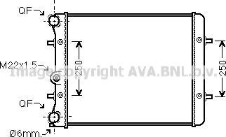 Ava Quality Cooling vn2152 - Радиатор, охлаждение двигателя autodnr.net