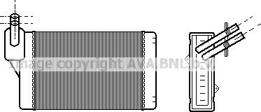 Ava Quality Cooling vna6060 - Теплообменник, отопление салона autodnr.net