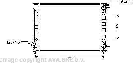 Ava Quality Cooling VWA2045 - Радиатор, охлаждение двигателя car-mod.com