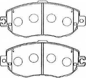 Aywiparts AW1810537 - Комплект тормозных колодок, дисковый тормоз autodnr.net