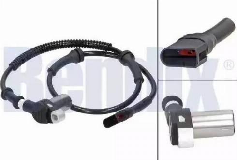 BENDIX 058335B - Датчик ABS, частота вращения колеса autodnr.net