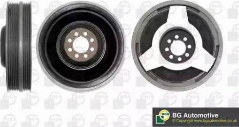BGA DP0200 - Ремінний шків, колінчастий вал autocars.com.ua