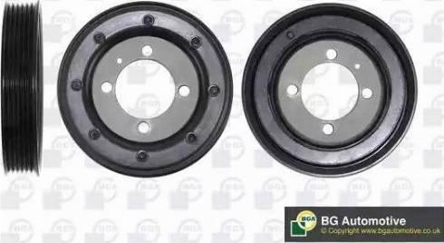 BGA DP0836 - Ремінний шків, колінчастий вал autocars.com.ua