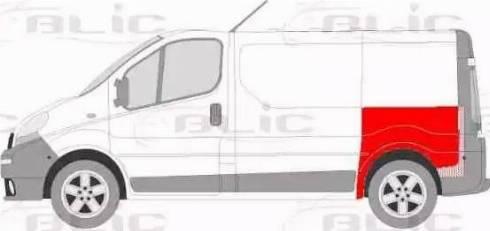 BLIC 6504-01-6061579P - Крило autocars.com.ua