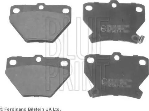 Blue Print ADT342114 - Комплект тормозных колодок, дисковый тормоз autodnr.net