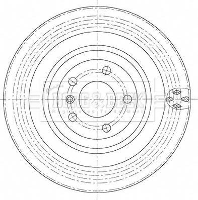 Borg & Beck BBD5495 - Тормозной диск autodnr.net