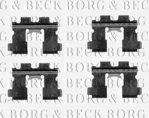 Borg & Beck BBK1149 - Комплектующие, колодки дискового тормоза autodnr.net