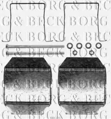 Borg & Beck BBK1207 - Комплектующие, колодки дискового тормоза autodnr.net