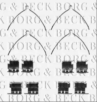 Borg & Beck BBK1425 - Комплектующие, колодки дискового тормоза autodnr.net
