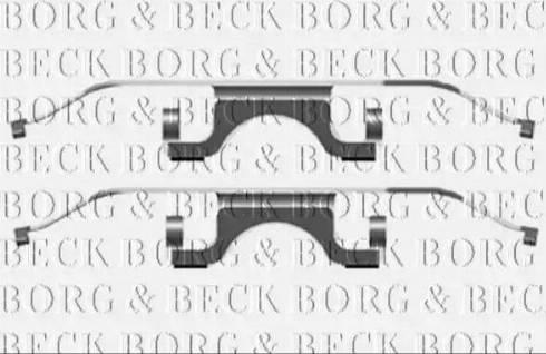 Borg & Beck BBK1492 - Комплектующие, колодки дискового тормоза autodnr.net