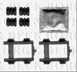 Borg & Beck BBK1495 - Комплектующие, колодки дискового тормоза autodnr.net