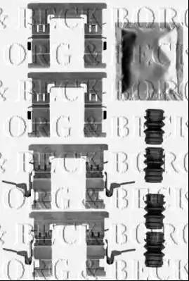 Borg & Beck BBK1522 - Комплектующие, колодки дискового тормоза avtokuzovplus.com.ua