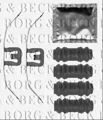 Borg & Beck BBK1525 - Комплектующие, колодки дискового тормоза avtokuzovplus.com.ua