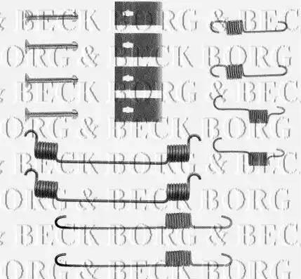 Borg & Beck BBK6050 - Комплектующие, стояночная тормозная система autodnr.net