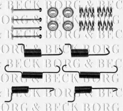Borg & Beck BBK6270 - Комплектующие, стояночная тормозная система autodnr.net