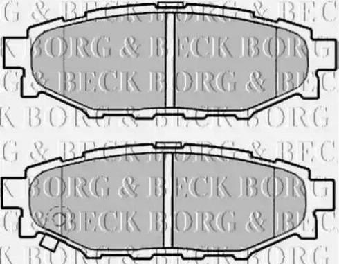 Borg & Beck BBP2004 - Тормозные колодки, дисковые car-mod.com