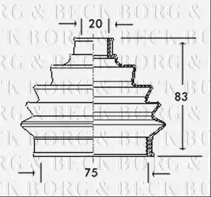 Borg & Beck BCB2004 - Пыльник, приводной вал car-mod.com
