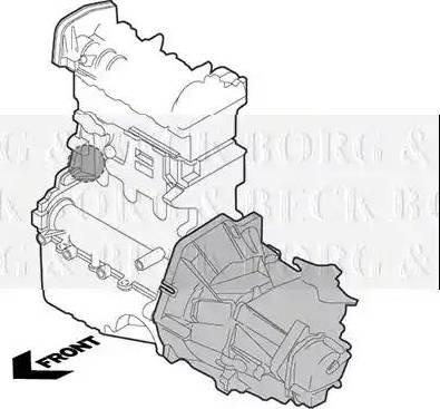 Borg & Beck BEM3852 - Подушка, підвіска двигуна autocars.com.ua