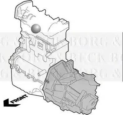 Borg & Beck BEM3892 - Подушка, підвіска двигуна autocars.com.ua