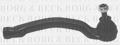 Borg & Beck BTR5154 - Наконечник рулевой тяги, шарнир car-mod.com