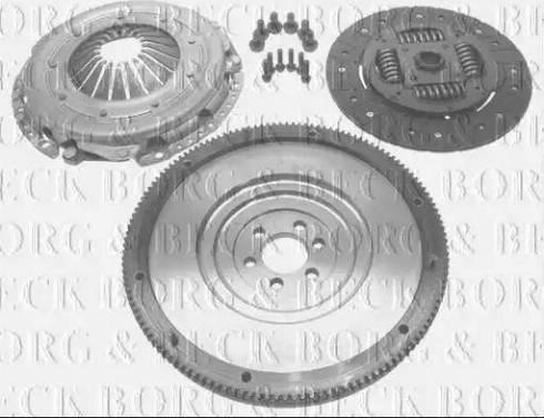 Borg & Beck HKF1040 - Комплект для переоборудования, сцепление avtokuzovplus.com.ua